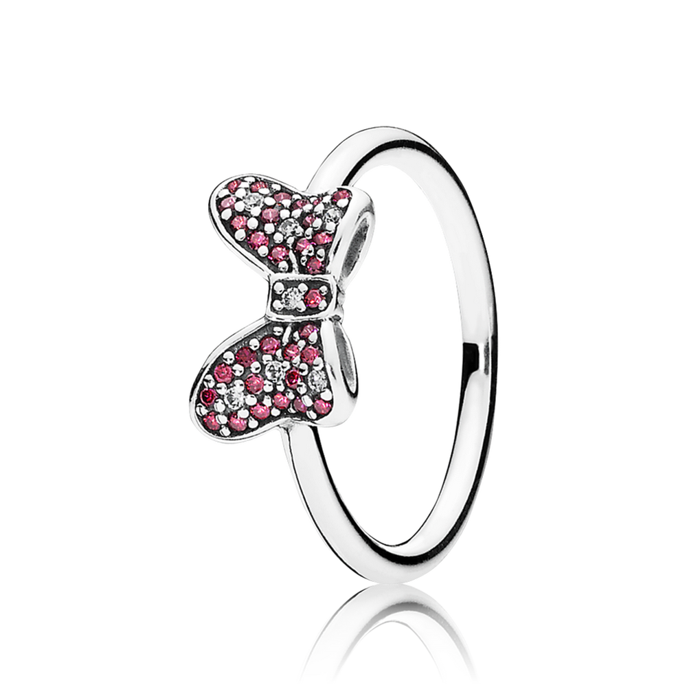 Disney, Minnie's Sparkling Bow Ring, Red & Clear CZ 190956CZR