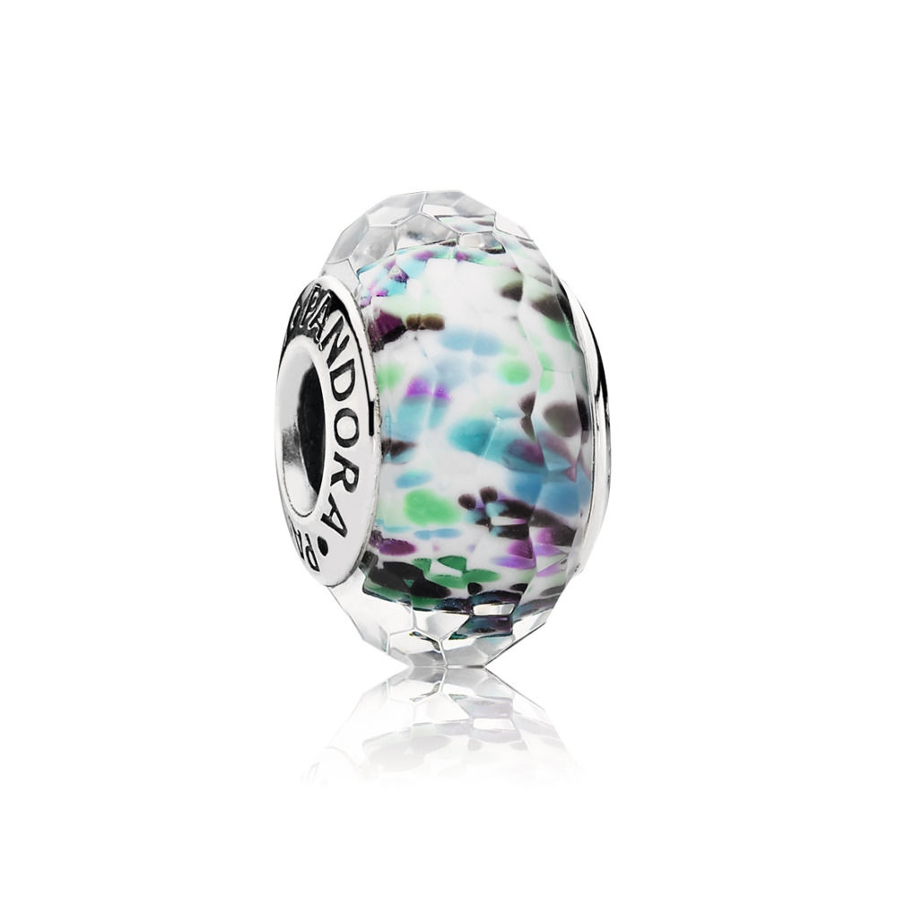 Pandora Green Faceted Murano Charm 791610