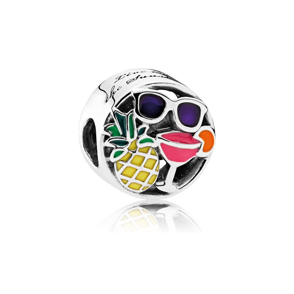 Pandora Summer Fun Charm, Mixed Enamel 792118ENMX