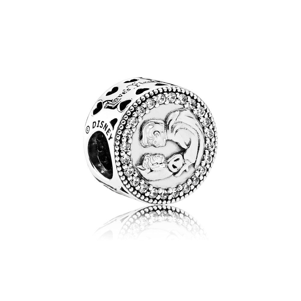 Pandora Disney, Snow White 80th Anniversary Charm, Clear CZ 7921